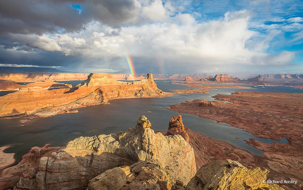 "Congratulations to Richard Ansley for winning the recent Sense of Place Assignment with the image, ""Gunsight Rainbows."""