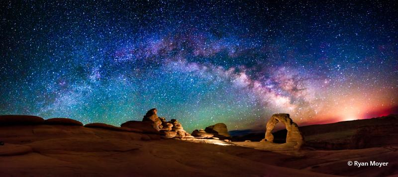 "Today's Photo Of The Day is ""A Delicate Night"" by Ryan Moyer. Location: Arches National Park, Utah."