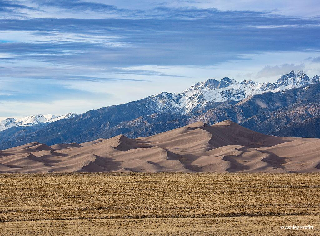 "Today's Photo Of The Day is ""Great Sand Dunes afternoon"" by Ashley Profitt. Location: Great Sand Dunes National Park, Colorado."