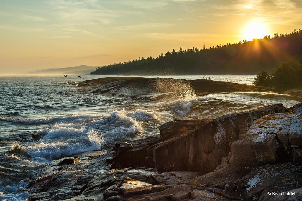 "Today's Photo Of The Day is ""Wave Action"" by Beau Liddell. Location: Superior National Forest, Minnesota."