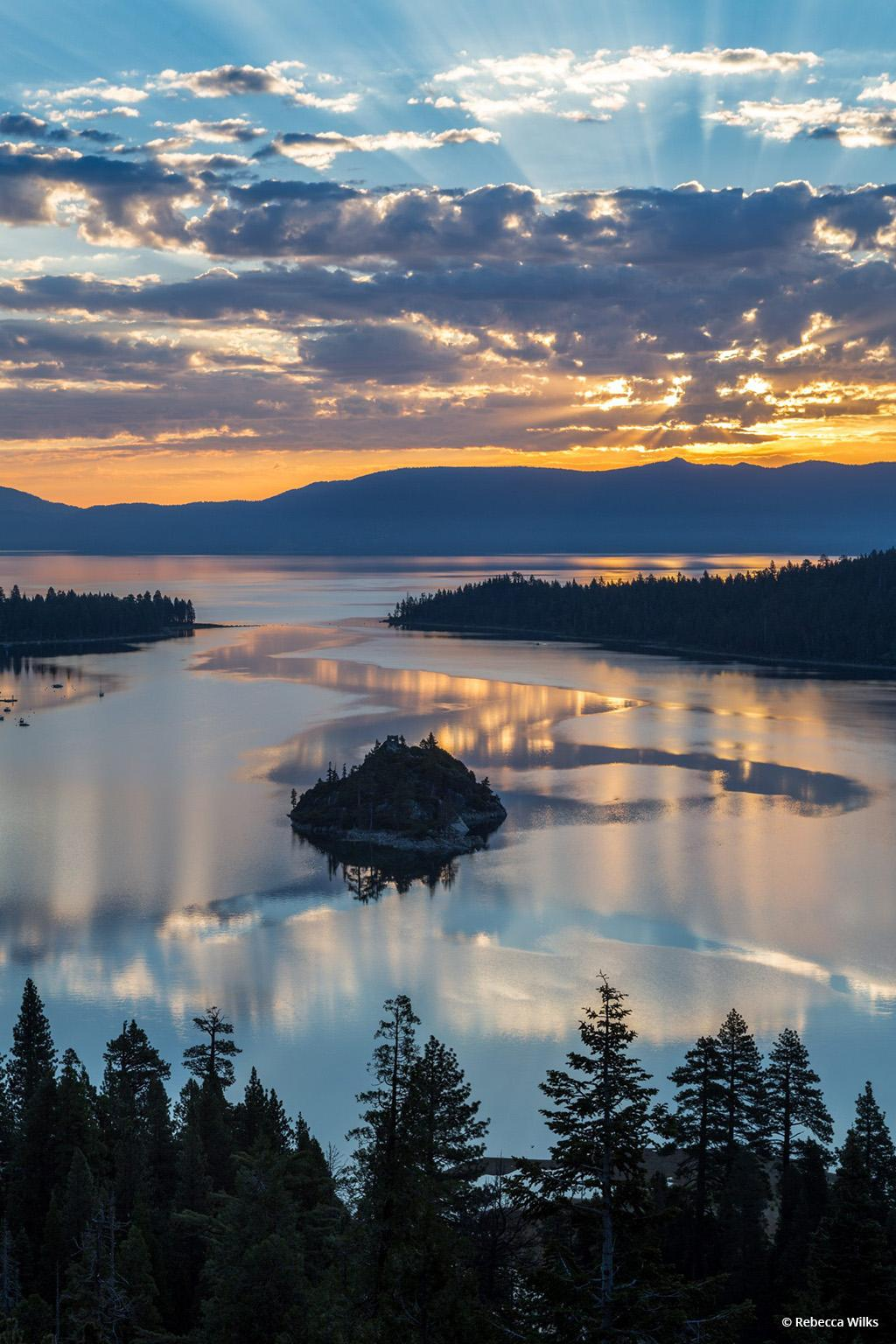 "Today's Photo Of The Day is ""Emerald Bay Sunrise"" by Rebecca Wilks. Location: Lake Tahoe, California."