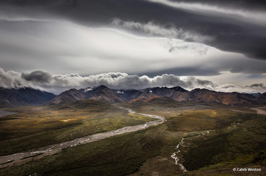 "Congratulations to Caleb Weston for winning the Dramatic Skies Assignment with his image, ""Polychrome Overlook, Denali National Park."""