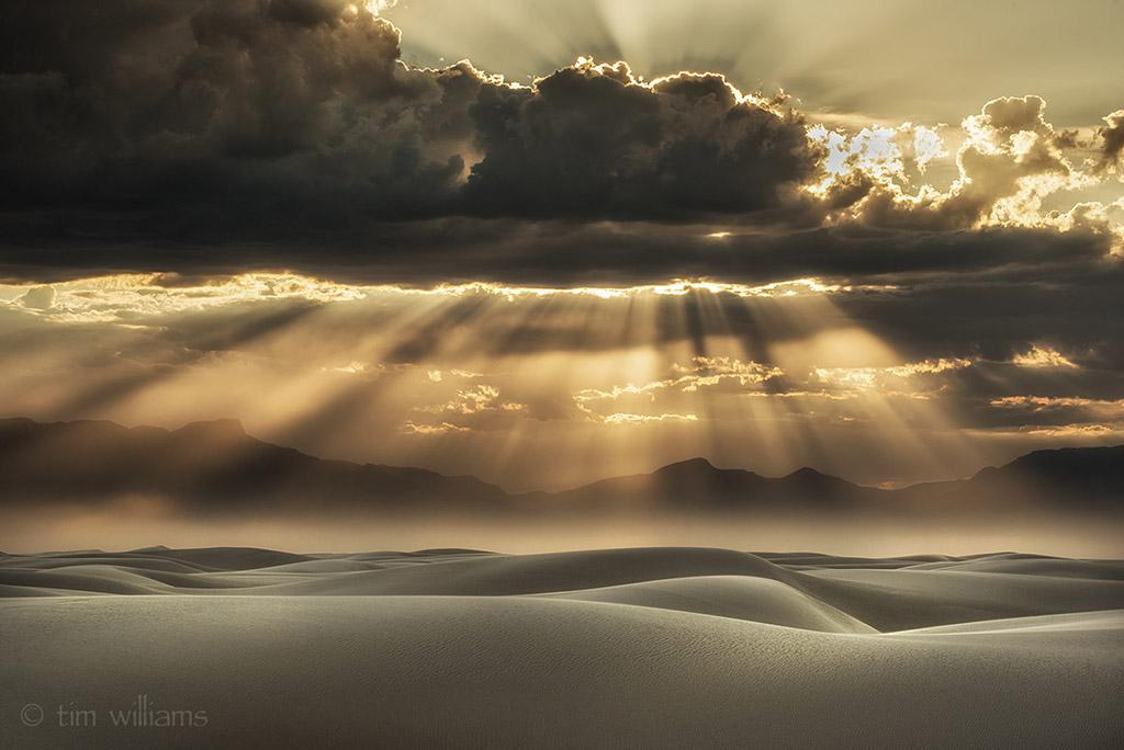 "Today's Photo Of The Day is ""Sandstorm Brilliance"" by Tim Williams. Location: White Sands National Monument, New Mexico."
