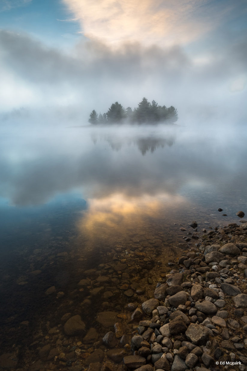 """Today's Photo Of The Day is """"Misty Dawn on the Quabbin"""" by Ed Mcguirk. Location: Quabbin Reservoir, Massachusetts."""