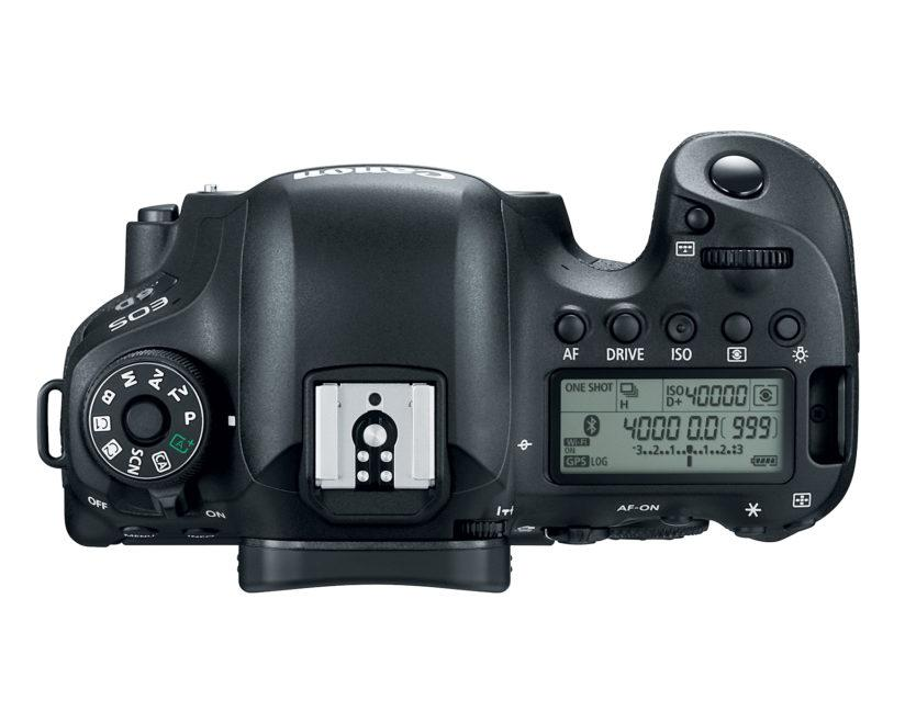 Top view of the Canon EOS 6D Mark II