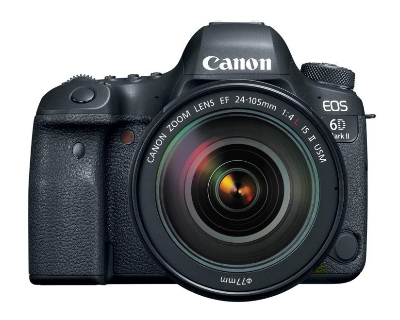 Front view of the Canon EOS 6D Mark II