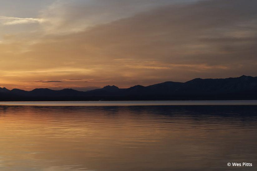 Yellowstone Lake at sunrise taken with the EOS 6D Mark II (beta sample model)