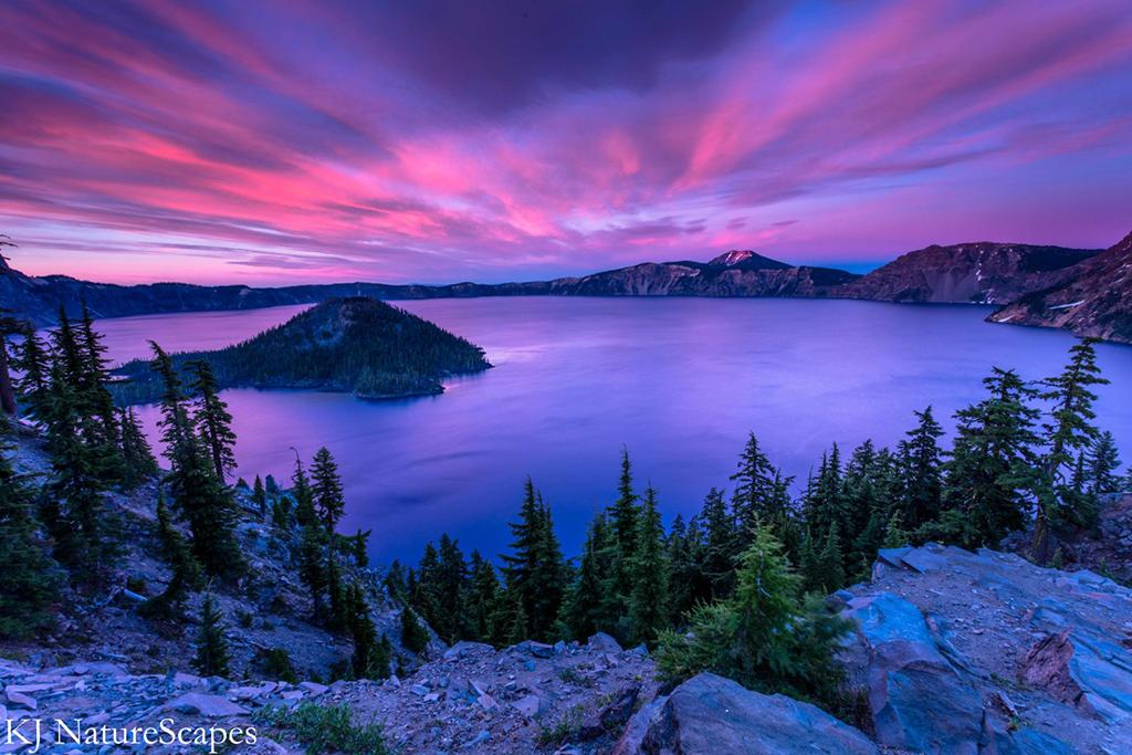 """Today's Photo Of The Day is """"Purple Haze"""" by Kelsey Underhill. Location: Crater Lake National Park, Oregon."""