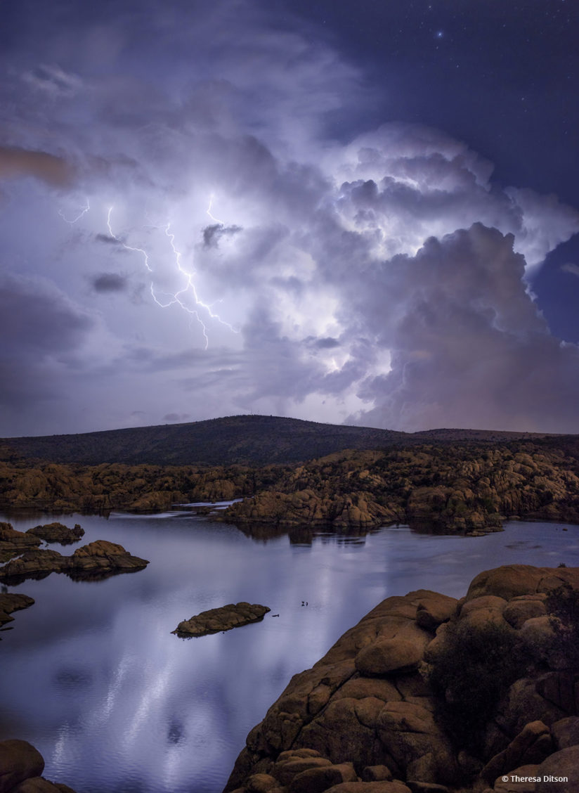 "Today's Photo Of The Day is ""Electric Night"" by Theresa Ditson. Location: Prescott, Arizona."