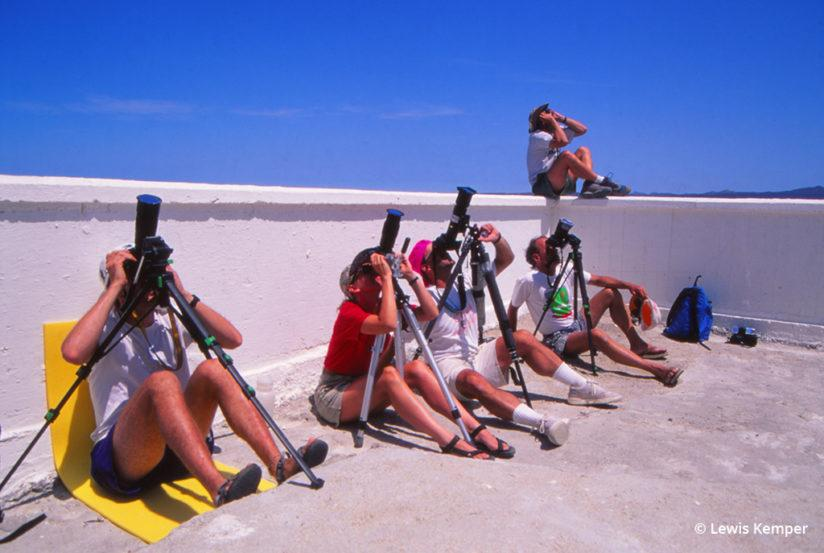 Photographing the solar eclipse in Baja California, Mexico, 1991