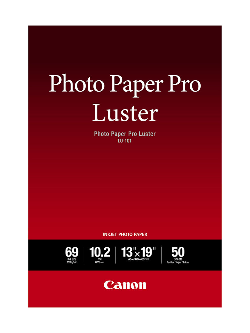 Fine Art Photo Papers: Canon Photo Paper Pro Luster