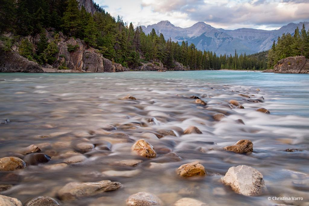 "Today's Photo Of The Day is ""Bubbling Bow Rider"" by Christina Varro. Location: Banff, Alberta, Canada."