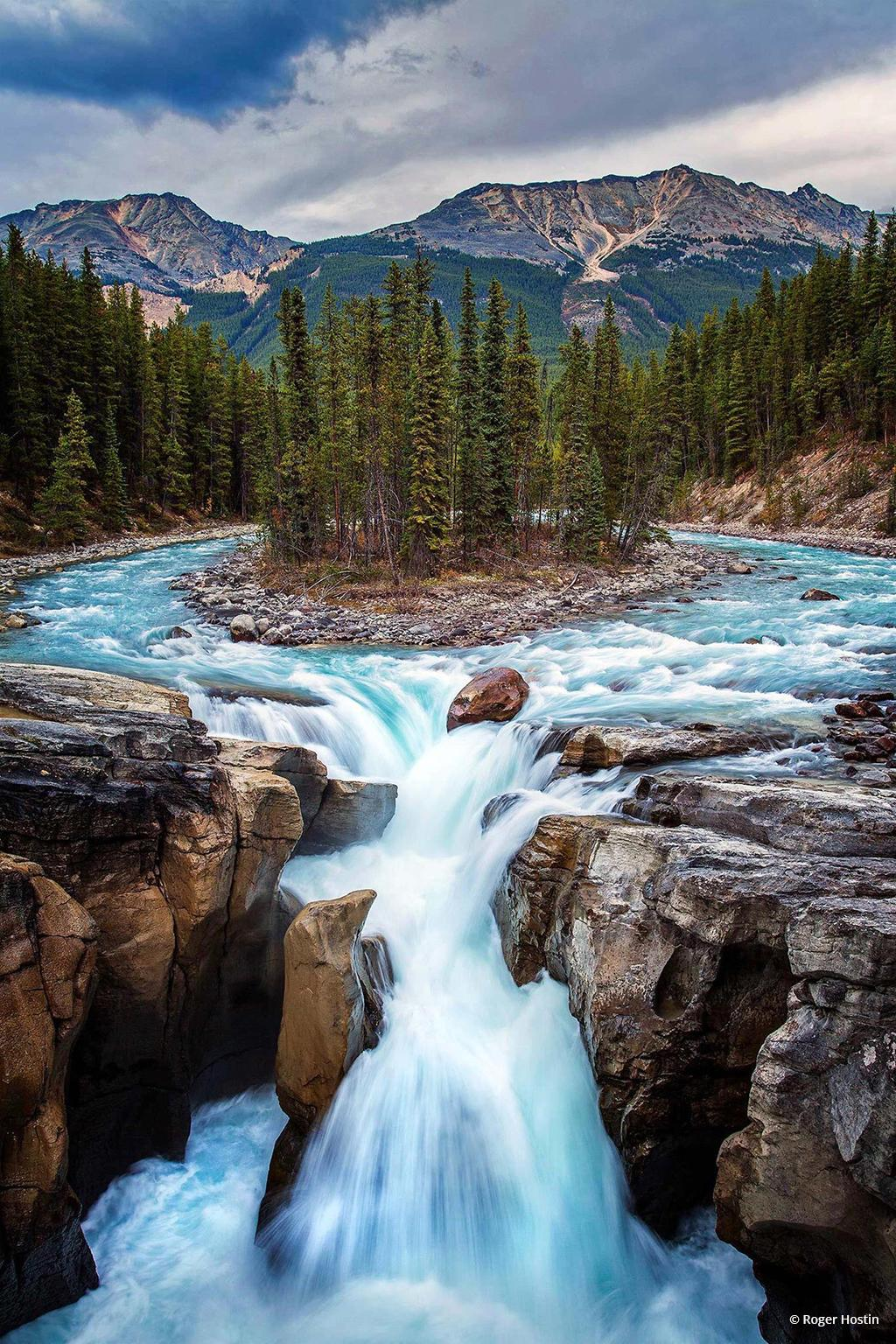 "Today's Photo Of The Day is ""Sunwapta Falls"" by Roger Hostin. Location: Jasper National Park, Alberta, Canada."