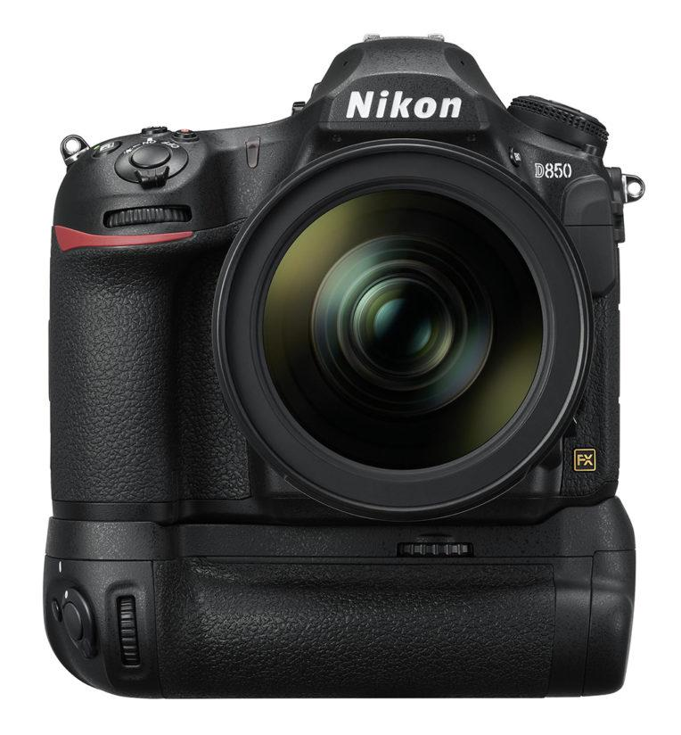 Nikon D850 with MB-D18 Multi Power Battery Pack