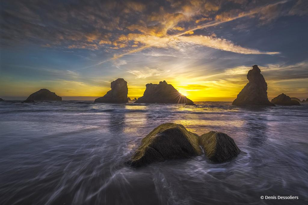 "Today's Photo Of The Day is ""Summer Sunset"" by Denis Dessoliers. Location: Bandon, Oregon."