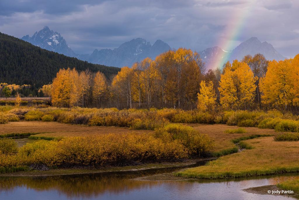 """Today's Photo Of The Day is """"Rainbow at Oxbow Bend"""" by Jody Partin. Location: Grand Teton National Park, Wyoming."""