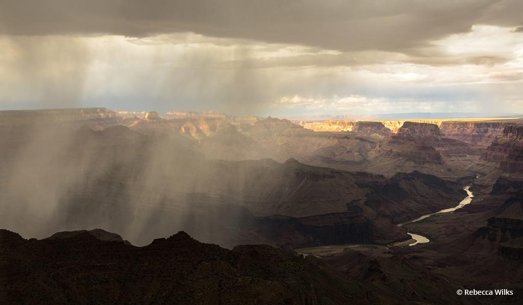 """Today's Photo Of The Day is """"Desert View Storm"""" by Rebecca Wilks. Location: Grand Canyon National Park, Arizona."""