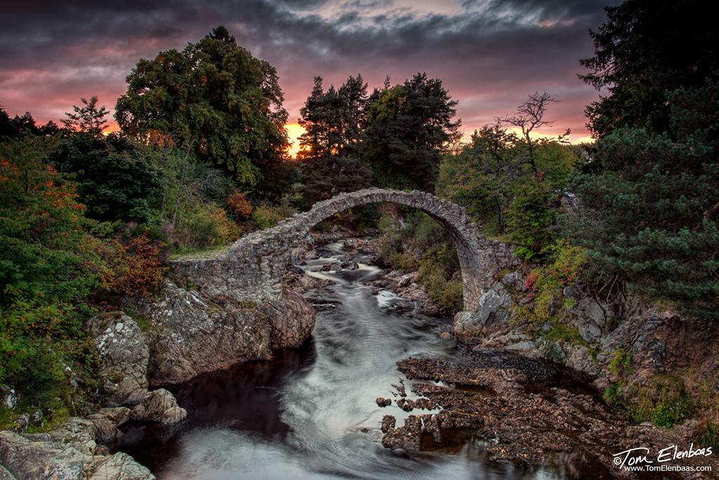 "Today's Photo Of The Day is ""Bridge of Carr"" by Tom Elenbaas. Location: Carrbridge, Scotland."