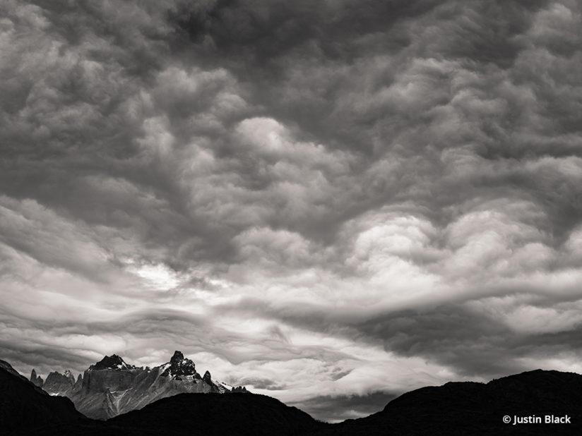Boiling clouds over Torres del Paine National Park, Fujifilm GFX 50S