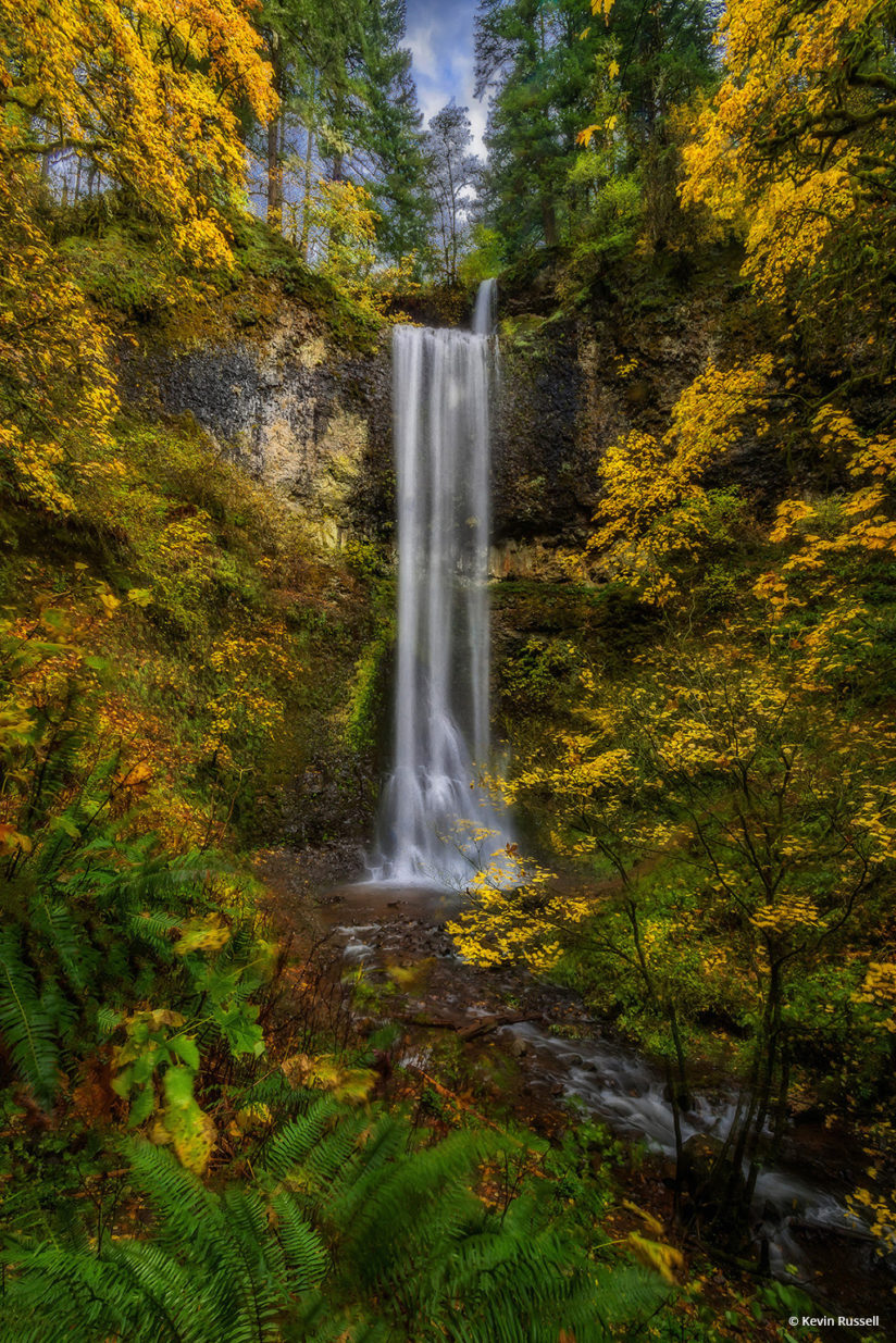 "Today's Photo Of The Day is ""Double Falls"" by Kevin Russell. Location: Silver Falls State Park, Oregon.  See more of Kevin Russell's photography at www.krbackwoodsphotography.com."