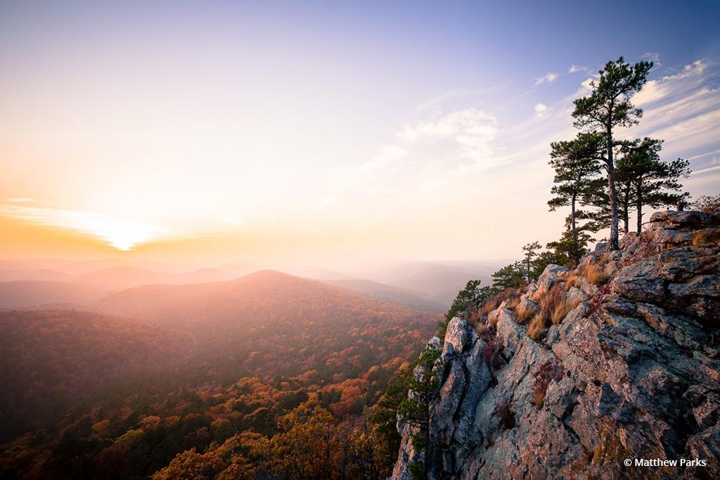 """Today's Photo Of The Day is """"Ouachita Sunset"""" by Matthew Parks. Location: Ouachita National Forest, Arkansas."""