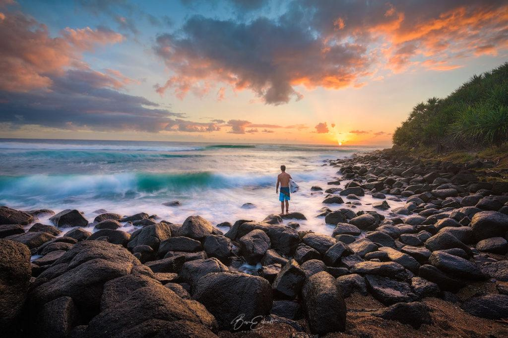 "Today's Photo Of The Day is ""Burleigh Sunrise"" by Ben Elliott. Location: Burleigh Heads, Gold Coast, Australia."