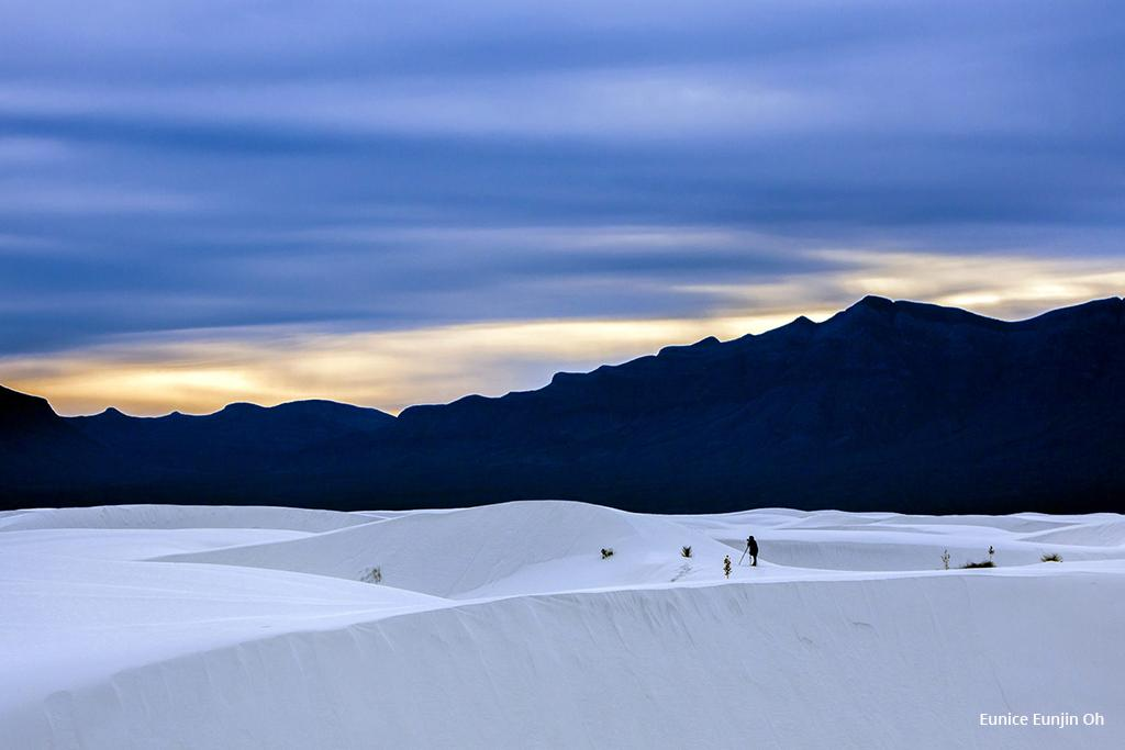 "Today's Photo Of The Day is ""Photographer at White Sands, New Mexico."""