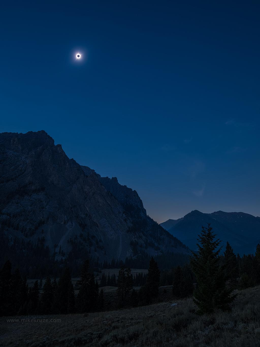"Today's Photo Of The Day is ""Solar Eclipse above the Lost River Range, central Idaho"" by Mike Kruze."