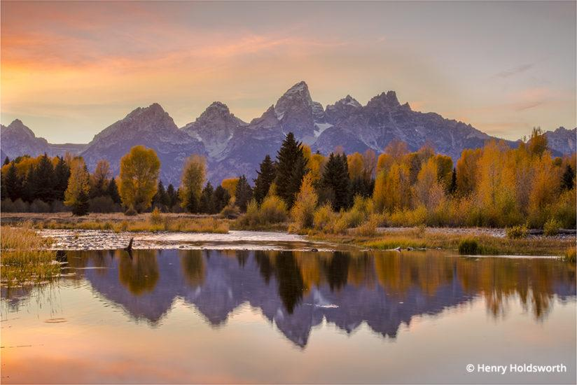 Grand Teton fall color at Schwabacher's Landing