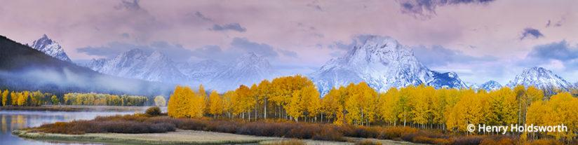 Grand Teton fall color at Oxbow Bend