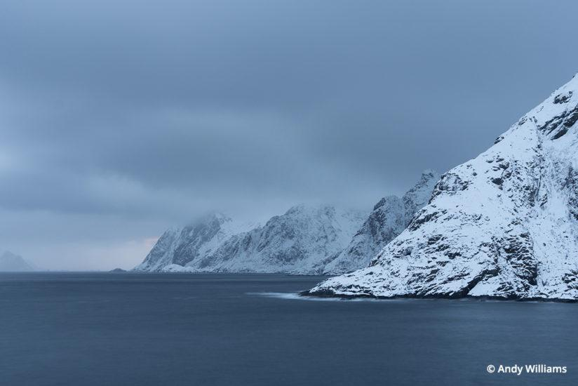 shooting for black and white, Coastal view from the village of Å, Lofoten Islands, Norway