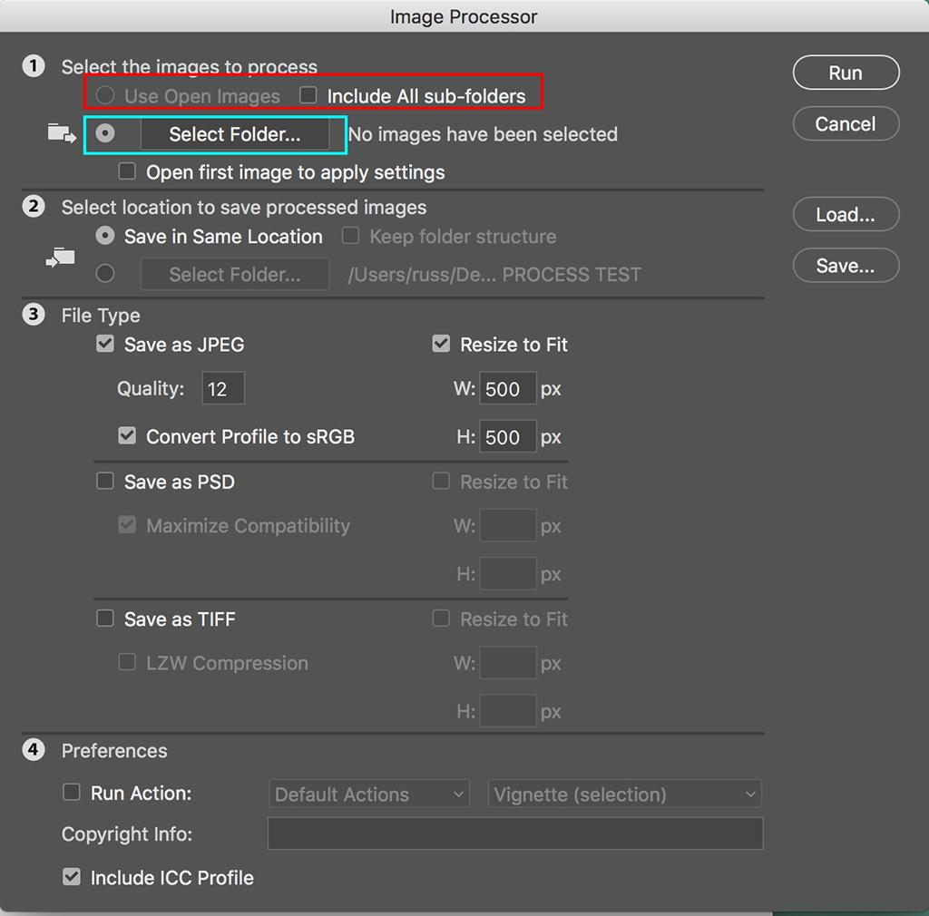 Batch Resize Photos With Photoshop's Image Processor