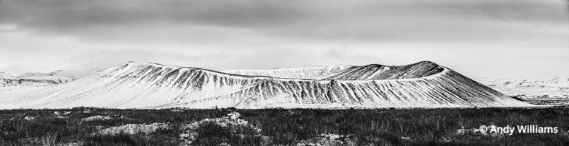 shooting for black and white, Crater at Mývatn, North Iceland