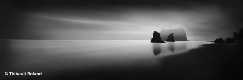 Black-and-White Long Exposures: Ruby Beach, Washington