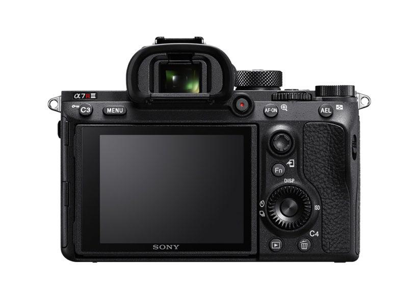 Rear view of the Sony a7R III
