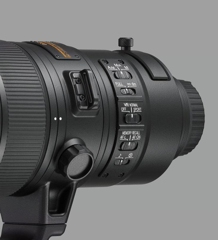 Nikon 180-400mm f/4E TC1.4 FL ED VR, close up (left)