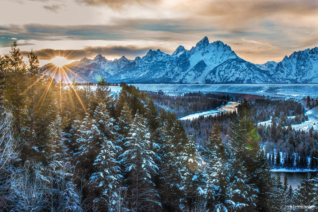 "Today's Photo Of The Day is ""Heavenlands"" by Tammy Neufeld. Location: Grand Teton National Park, Wyoming."
