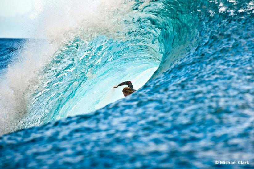 Surf photography taken from a boat