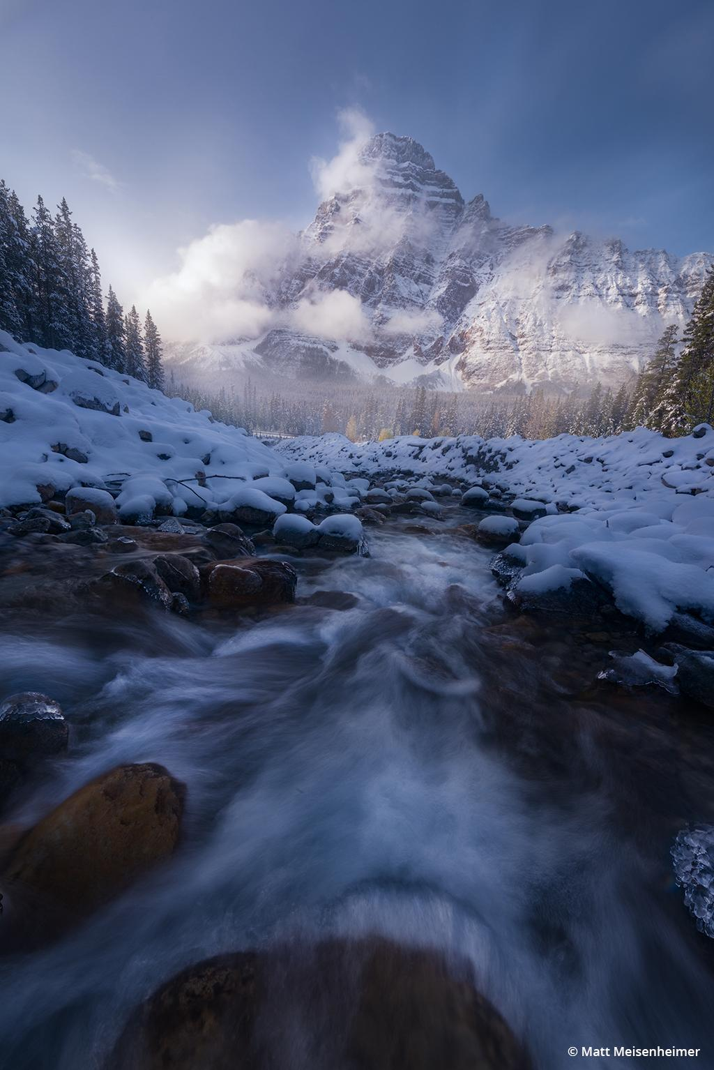 """Today's Photo Of The Day is """"Winter's Touch"""" by Matt Meisenheimer. Location: Banff National Park, Alberta, Canada."""