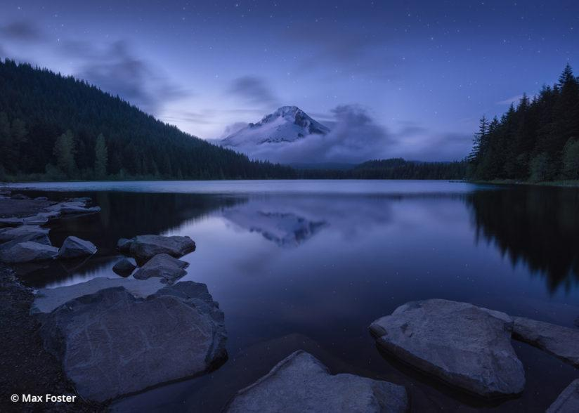 Trillium Lake at twilight