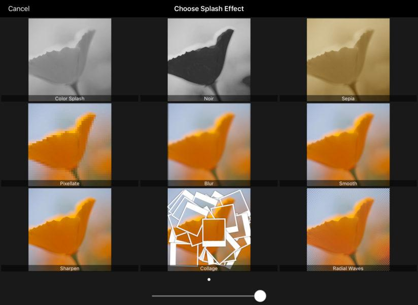 ACDSee Pro For iOS Filter Splash