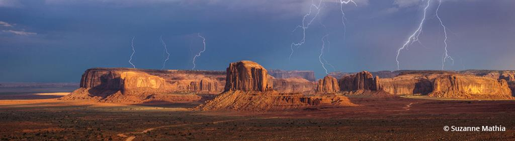 """Today's Photo Of The Day is """"Hunts Mesa Storm"""" by Suzanne Mathia. Location: Monument Valley, Arizona."""