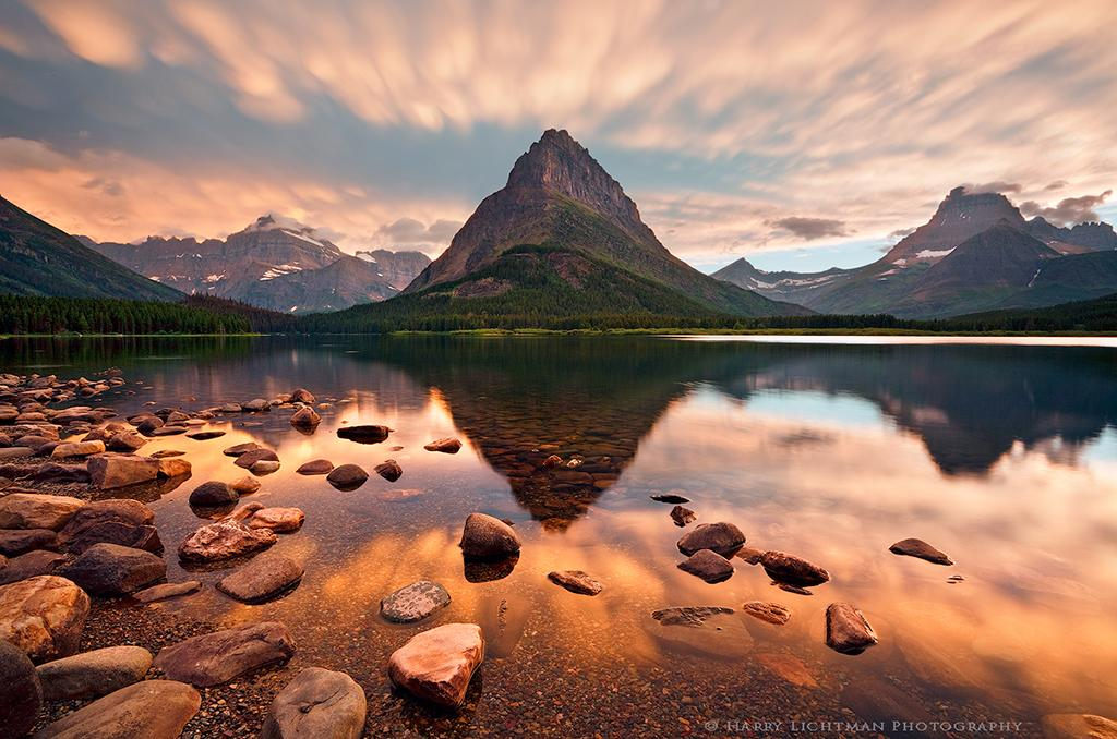 "Today's Photo Of The Day is ""Mammatus Evening Many Glacier"" by Harry Lichtman. Location: Glacier National Park, Montana."