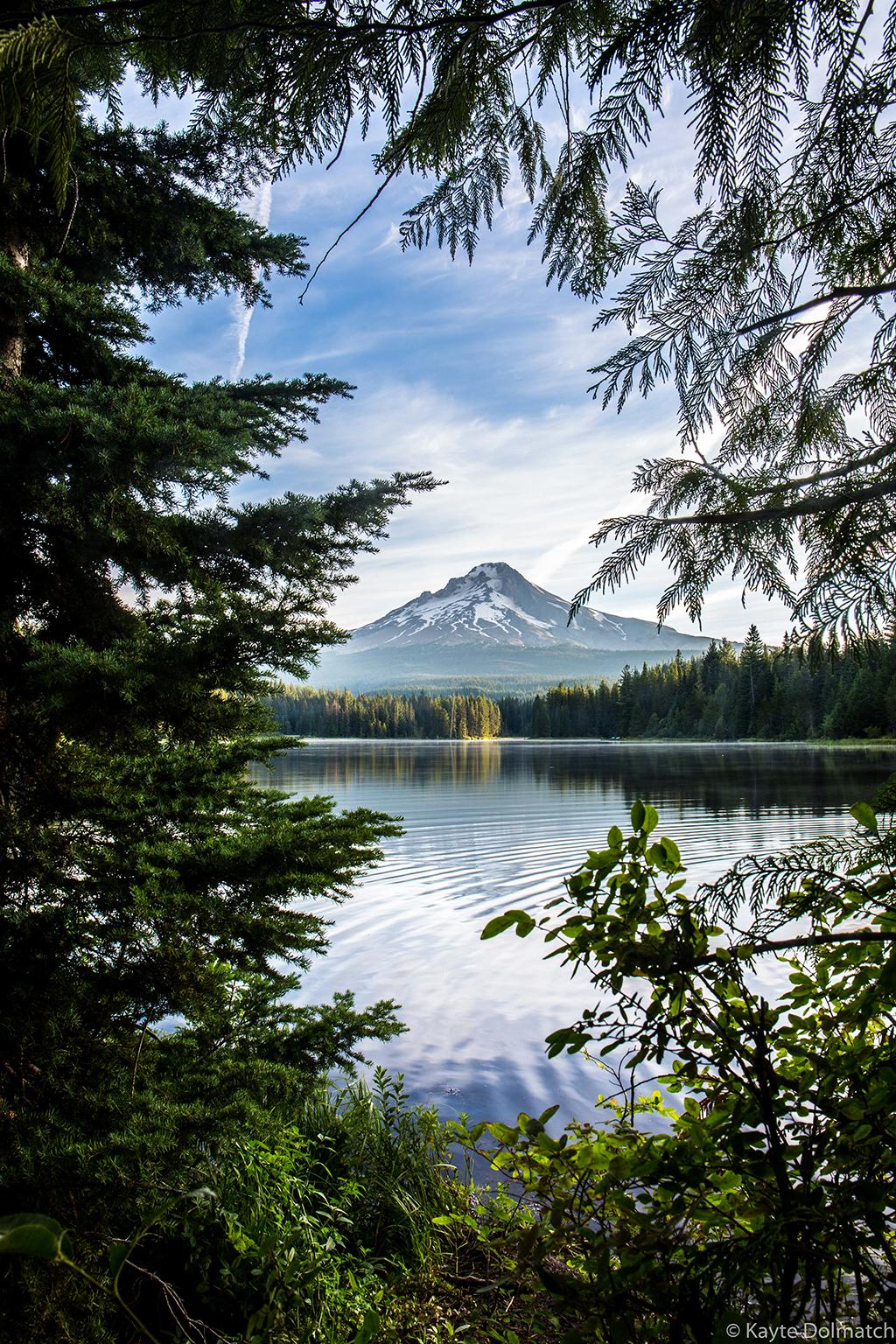 """Today's Photo Of The Day is """"Nature's Window"""" by Kayte Dolmatch. Location: Trillium Lake, Oregon."""