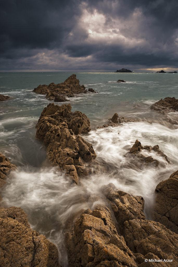 "Today's Photo Of The Day is ""Sea, Clouds & Fun"" by Michael Arzur. Location: Pointe du Grouin, Cancale, France."