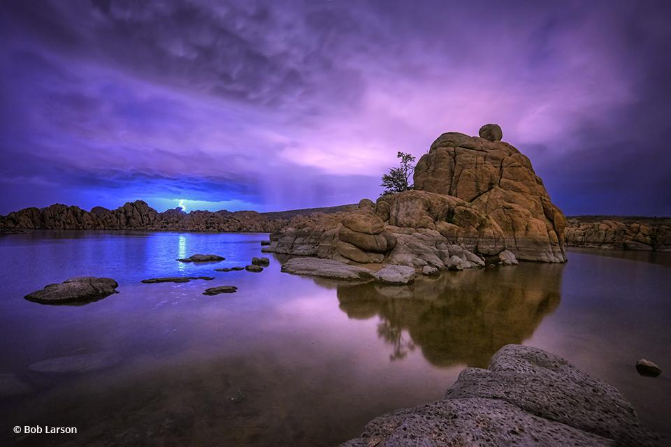 "Today's Photo Of The Day is ""Blue Mood"" by Bob Larson. Location: Watson Lake, outside of Prescott, Arizona."