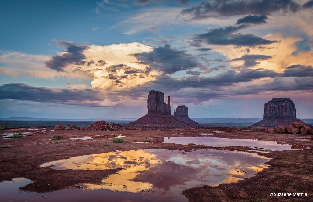 "Today's Photo Of The Day is ""Clearing Storm"" by Suzanne Mathia. Location: Monument Valley, Arizona."