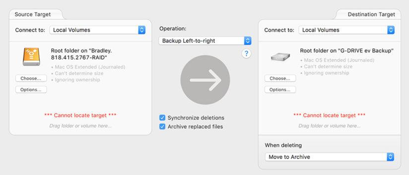 Software like ChronoSync can be helpful for keeping your photos safe