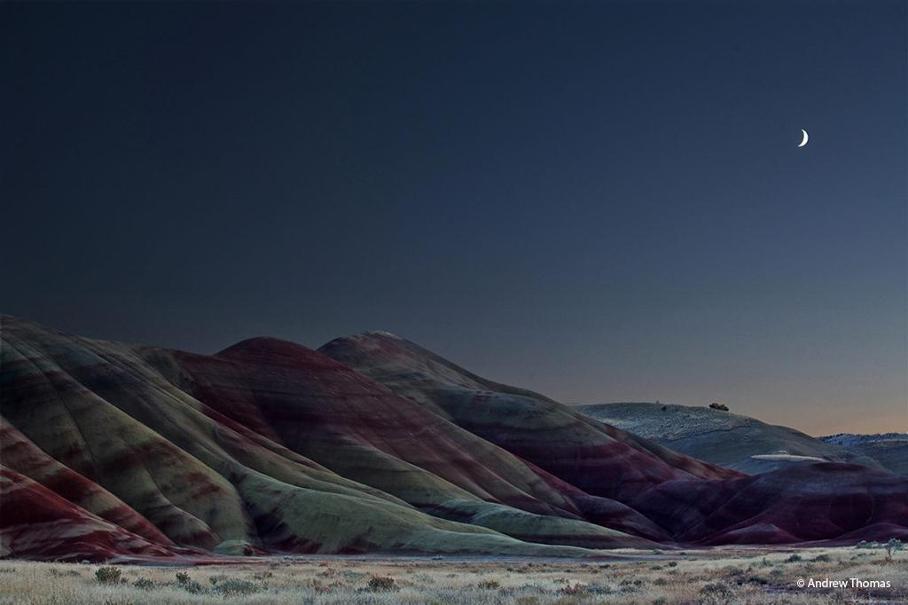 "Today's Photo Of The Day is ""Painted Blue"" by Andrew Thomas. Location: Painted Hills, John Day Fossil Beds National Monument, Oregon."