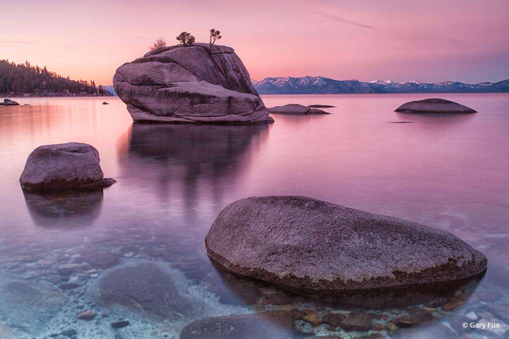 "Today's Photo Of The Day is ""Sonnet"" by Gary Fua. Location: Bonsai Rock, Lake Tahoe, Nevada."
